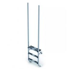 Лестница Elegance со ступеньками из нержавеющей стали, AISI-316