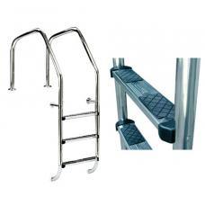 Лестница Overflow 1000 для переливных бассейнов со ступеньками из нержавеющей стали, AISI-316